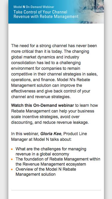 [On-Demand Webinar] Take Control of Your Channel Revenue with Rebate Management