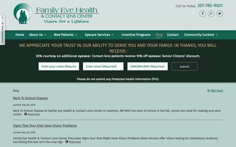 Screenshot of Blog family-eyehealth.com captured Dec. 19, 2018