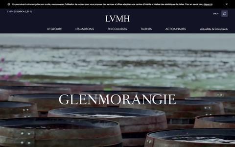 Screenshot of lvmh.fr - Glenmorangie, whisky écossais, single malt - Vins & Spiritueux - LVMH - captured Oct. 29, 2017