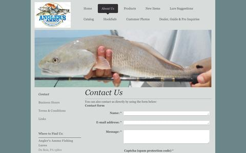 Screenshot of Contact Page anglers-ammo.com - Contact Angler's Ammo - captured Dec. 25, 2015