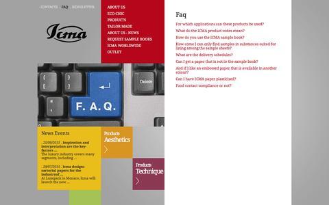 Screenshot of FAQ Page icma.it - ICMA - FAQ - captured Feb. 2, 2016
