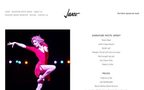Screenshot of Pricing Page jascofabrics.com - Pricing — Jasco - captured Nov. 14, 2018