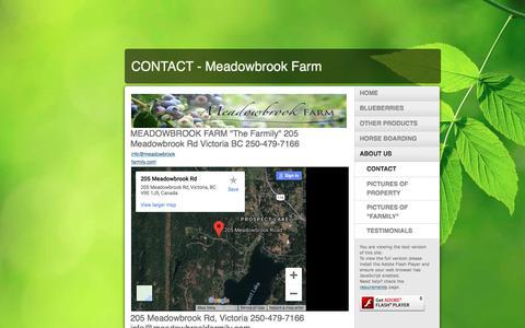 Screenshot of Contact Page meadowbrookfarmily.com - CONTACT - Meadowbrook Farm - captured Sept. 20, 2018