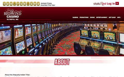 Screenshot of About Page redwindcasino.com - About | Red Wind Casino - captured Nov. 4, 2015