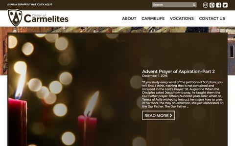 Screenshot of Blog carmelites.net - Blog | Order of Carmelites - captured Dec. 1, 2016