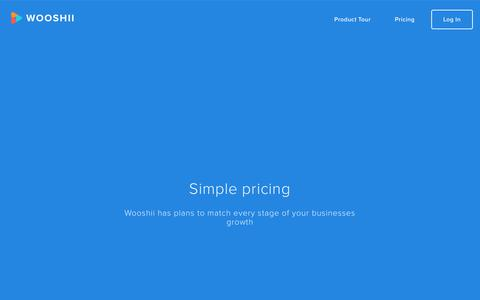 Screenshot of Pricing Page wooshii.com - Wooshii - Simple pricing - captured July 13, 2018