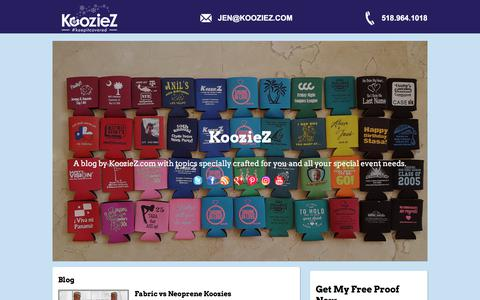 Screenshot of Blog kooziez.com - Blog - captured Sept. 20, 2018