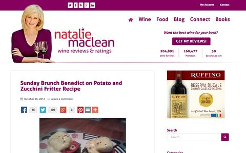 Screenshot of Blog nataliemaclean.com - Natalie MacLean - Reviews of the best wines at any price, style or region - captured Oct. 27, 2014