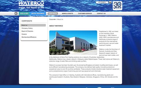 Screenshot of About Page waterco.us - About Waterco - captured Oct. 27, 2014