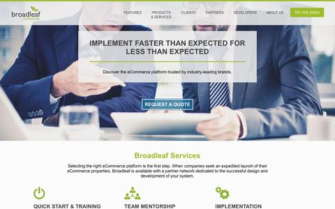 Screenshot of Services Page broadleafcommerce.com - Services - Broadleaf Commerce - captured July 30, 2016