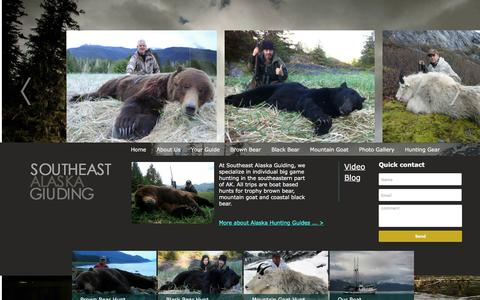 Screenshot of Home Page seaguiding.com - Southeast Alaska Guiding - captured Feb. 26, 2016