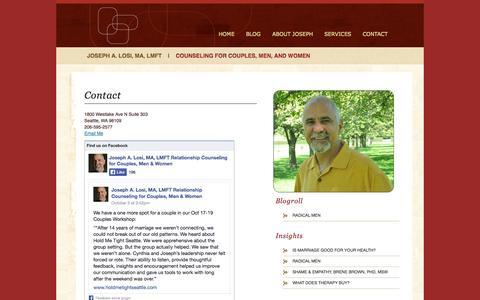 Screenshot of Contact Page josephlosi.com - Contact | Joseph Losi - captured Oct. 6, 2014