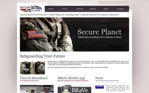 Screenshot of Home Page secureplanet.com - Secure Planet - captured May 17, 2017