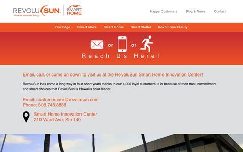Screenshot of Contact Page revolusun.com - Contact - captured Feb. 9, 2016
