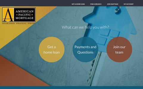 Screenshot of Home Page apmortgage.com - Home - captured Sept. 5, 2015