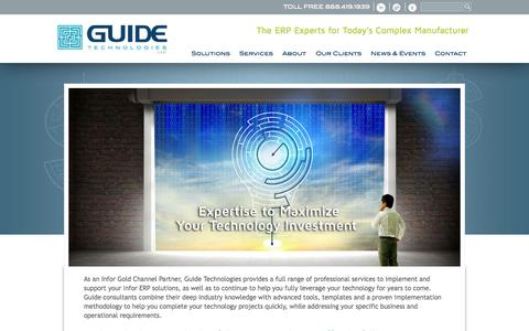 Screenshot of Services Page guidetechnologies.com - Guide Technologies ERP Software Business Solutions and Systems – Guide Technologies - captured Sept. 30, 2014