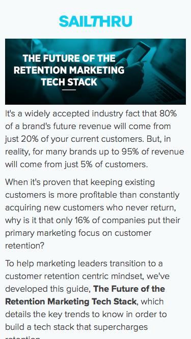 Future of the Retention Marketing Tech Stack   Sailthru
