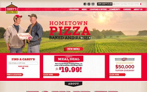 Screenshot of Home Page caseys.com - Casey's Home Page | Casey's General Store - captured Oct. 26, 2015