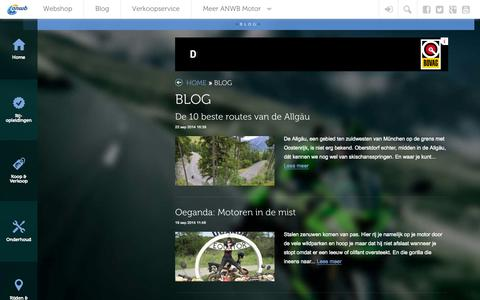 Screenshot of Blog anwbmotor.nl - BLOG | ANWB Motor - captured Sept. 23, 2014