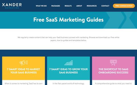 Marketing Guides and Resources for SaaS | Xander Marketing