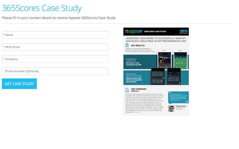 Screenshot of Landing Page appsee.com - 365Scores Case StudyCase Study | Appsee - captured Aug. 18, 2016