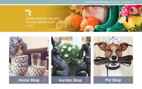 Screenshot of Home Page lucasgarden.com - garden, gardening, gift, garden gift, homeware, home gifts, pets, pet – Luca Designs Ltd - captured July 22, 2018