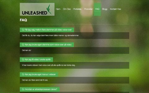 Screenshot of FAQ Page unleashed.no - FAQ | Unleashed.no - captured Oct. 7, 2014