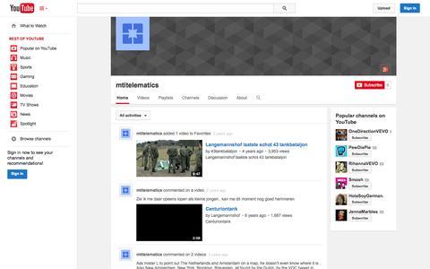 Screenshot of YouTube Page youtube.com - mtitelematics  - YouTube - captured Oct. 23, 2014