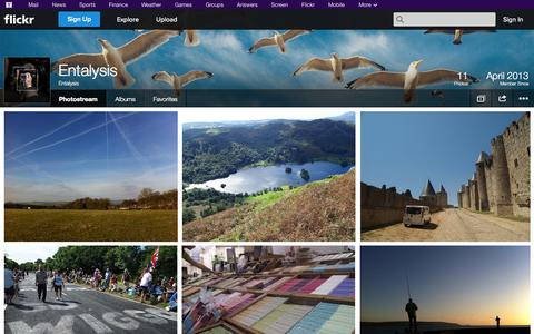 Screenshot of Flickr Page flickr.com - Flickr: Entalysis' Photostream - captured Oct. 23, 2014