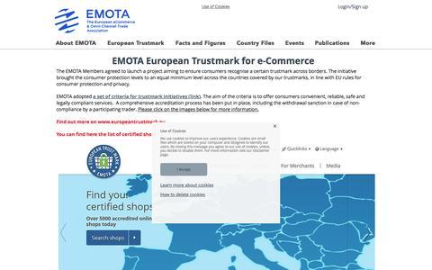 Screenshot of Signup Page emota.eu - e-Commerce Trustmarks - captured Nov. 24, 2016