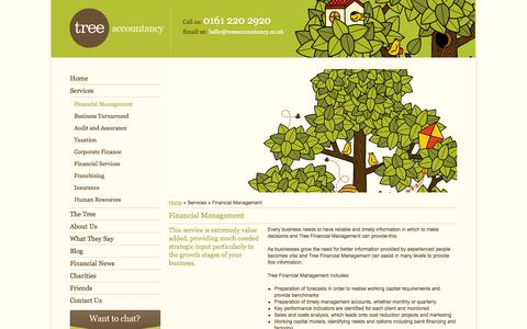 Screenshot of Services Page treeaccountancy.co.uk - Financial Management Manchester / Tree Accountancy - captured Oct. 7, 2014
