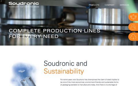Screenshot of Home Page soudronic.com - Soudronic | Technology that keeps you ahead - captured Sept. 29, 2017