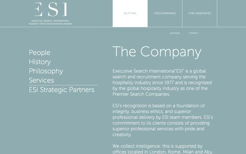 Screenshot of Services Page esiglobal.com - ESI | Services - captured Nov. 14, 2016