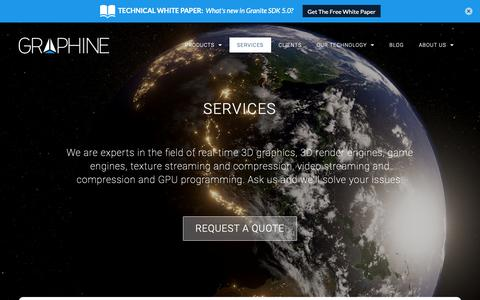 Screenshot of Services Page graphinesoftware.com - Services | Graphine | Texture streaming and compression middleware - captured Sept. 30, 2018