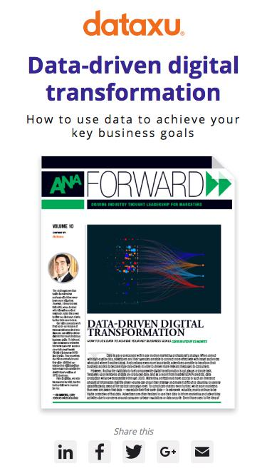 Data-driven digital transformation | How to use data to achieve your key business goals