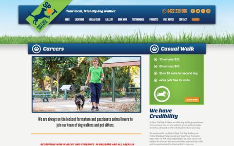 Screenshot of Jobs Page spotdogwalk.com.au - Career   Spot The Dog Walker - captured Nov. 16, 2018