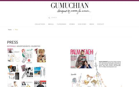 Screenshot of Press Page gumuchian.com - Press | Gumuchian Jewelry - captured July 24, 2018