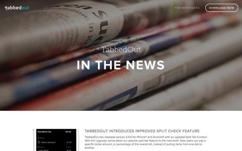 Screenshot of Press Page tabbedout.com - TabbedOut Press — TabbedOut - captured Sept. 17, 2014