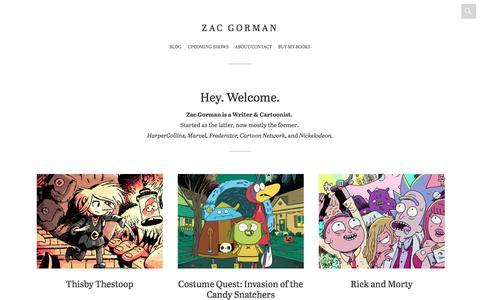 Screenshot of Home Page zacgorman.com - Zac Gorman - captured Jan. 9, 2018