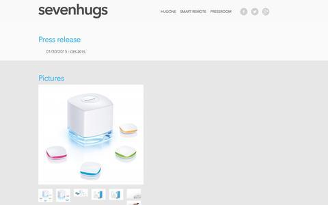 Screenshot of Press Page sevenhugs.com - Press area - Sevenhugs - captured Jan. 10, 2016