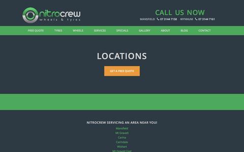 Screenshot of Locations Page nitrocrew.com.au - Locations - Nitro Crew - captured Feb. 15, 2016
