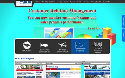 Screenshot of Home Page dss.com.sg - Distributed Software Solution Pte Ltd. - captured Feb. 8, 2016