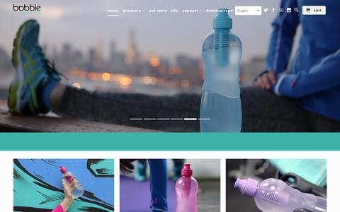 Screenshot of Home Page waterbobble.nl - waterbobble - captured Feb. 13, 2016