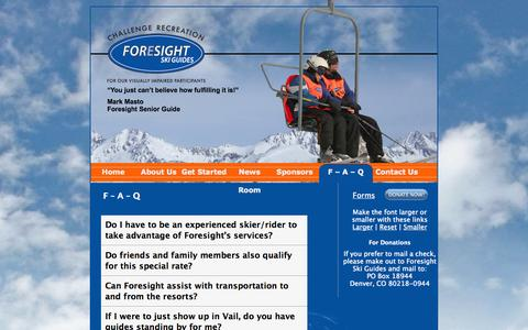 Screenshot of FAQ Page foresightskiguides.org - F - A - Q - Foresight Ski Guides at Foresight Ski Guides - captured Sept. 30, 2014
