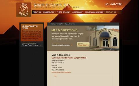 Screenshot of Maps & Directions Page robertcoopermd.com - Map & Directions | Robert Cooper MD Plastic Surgery - captured Jan. 11, 2016