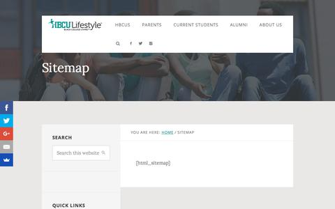 Screenshot of Site Map Page hbculifestyle.com - - HBCU Lifestyle – Black College Living - captured July 14, 2018