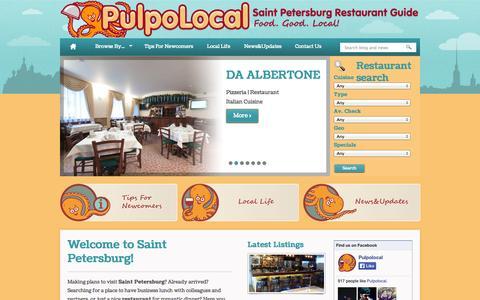 Screenshot of Home Page pulpolocal.com - PulpoLocal – Saint Petersburg Restaurant Guide - - captured Sept. 30, 2014