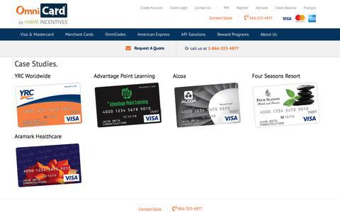 Screenshot of Case Studies Page omnicard.com - Case Studies - OmniCard Corporate - OmniCard - captured Sept. 20, 2018