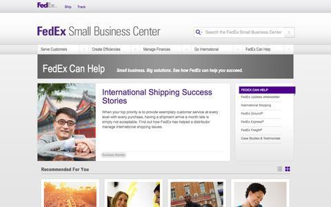Screenshot of FAQ Page fedex.com - FedEx Can Help - captured Oct. 23, 2014