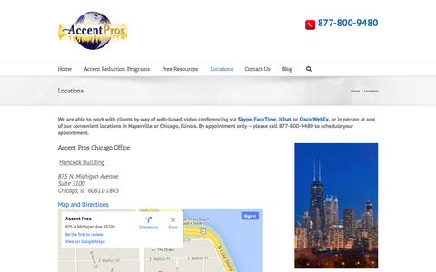 Screenshot of Locations Page accentpros.com - Locations - Accent Pros - captured Oct. 4, 2014